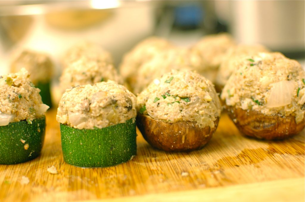 raw stuffed shrooms, zuc