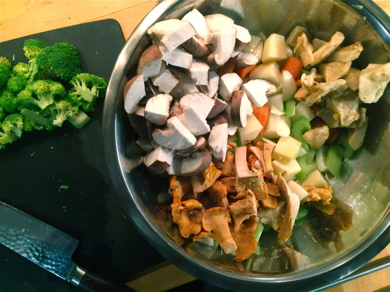 Mise en place: gather and prep all the ingredients.