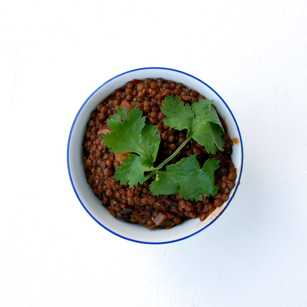 Chocolate Chili Pepper Caviar Lentils
