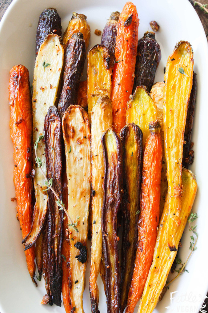 Ginger Garlic Roasted Carrots by Good Saint
