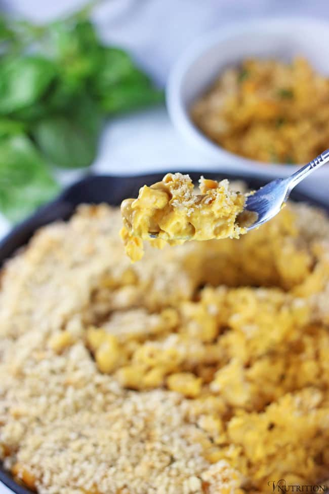 Vegan Pumpkin Mac and Cheese by V Nutrition and Wellness