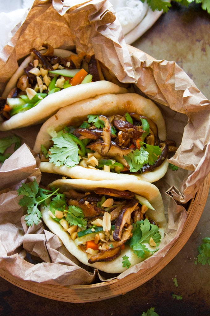 Shiitake Mushroom Vegan Bao Buns | photo by Connoiseurus Veg