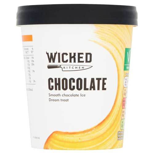 vegan chocolate ice cream at tesco