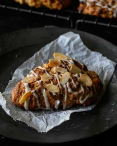 vegan apple almond scone