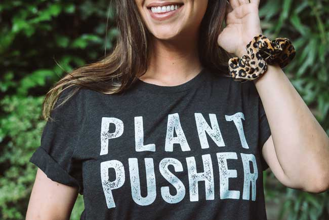 wicked healthy plant pusher tshirt