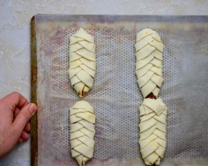 braid pastry dough folded